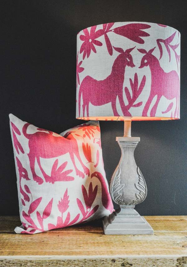 Cushion and lampshade