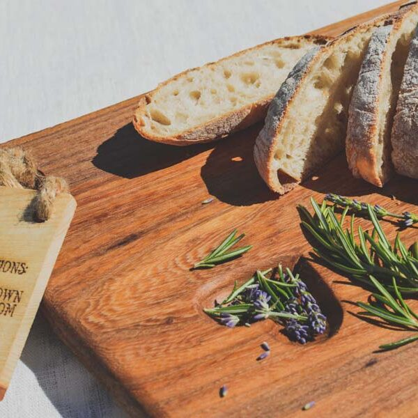Elm wood cheese board