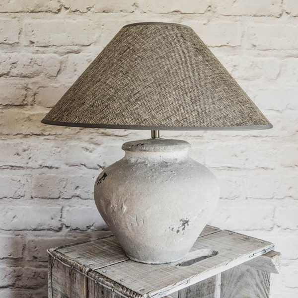 coastal concrete lamp