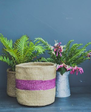 purple stripe basket