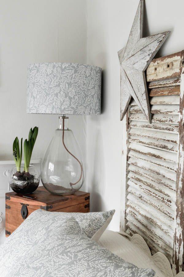 linen lampshade