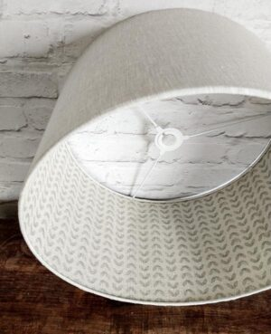 lined lampshade