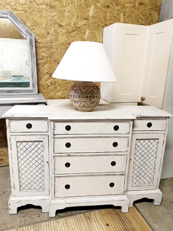 upcycled cabinet