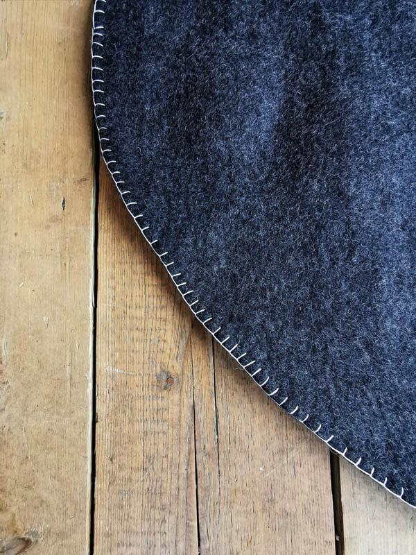 Charcoal Rug Handmade