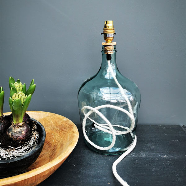 Recycled Glass Lamp