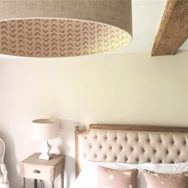 Pink double lined lampshade